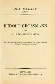 Cover of: Rudolf Grossmann