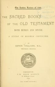 Cover of: The sacred books of the Old Testament both human and divine