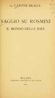 Cover of: Saggio su Rosmini