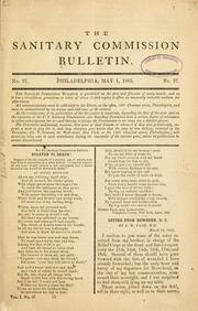Cover of: The Sanitary commision bulletin ... |