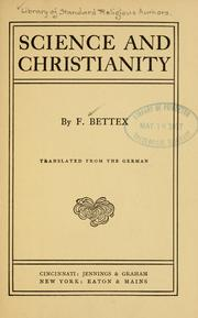 Cover of: Science and Christianity | FrГ©dГ©ric Bettex