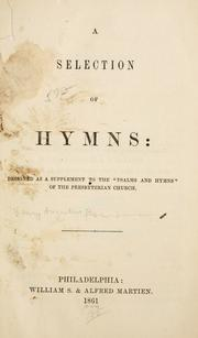Cover of: A selection of hymns