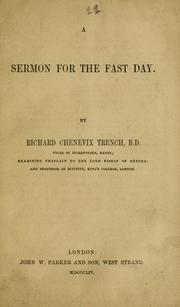 Cover of: A sermon for the fast day