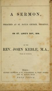 Cover of: A sermon, preached at St Paul's church, Brighton