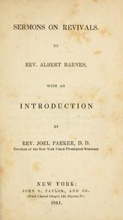 Cover of: Sermons on revivals | Albert Barnes