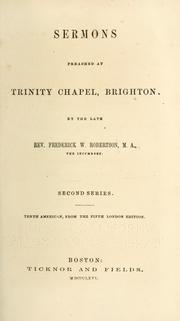 Cover of: Sermons preached at Trinity Chapel, Brighton. Second series