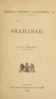 Cover of: Shahabad: by L. S. S. O'Malley.