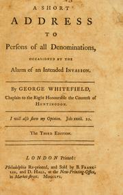 Cover of: A short address to persons of all denominations