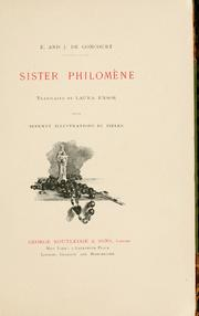 Cover of: Sister Philomène