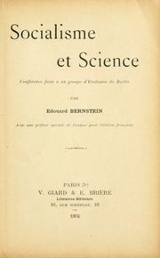 Cover of: Socialisme et science: conférence faite à un groupe d'étudiants de Berlin.