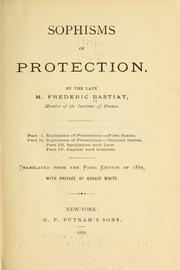 Cover of: Sophisms of protection