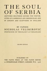 Cover of: The soul of Serbia