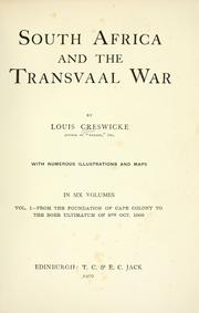 Cover of: South Africa and the Transvaal war | Louis Creswicke