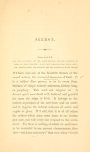 Cover of: The sovereignty of God