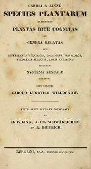 Cover of: Species plantarum by Carl Linnaeus