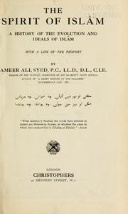 Cover of: The spirit of Islâm