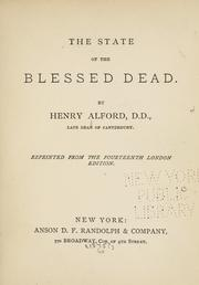 Cover of: The state of the blessed dead