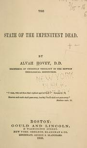 Cover of: The state of the impenitent dead