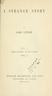 A strange story by Edward Bulwer Lytton