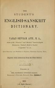 Cover of: The student's English-Sanskrit dictionary