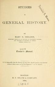Cover of: Studies in general history