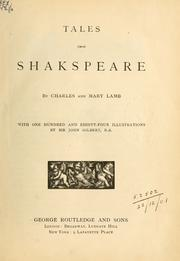 Cover of: Tales from Shakspeare: Designed for the use of young persons.