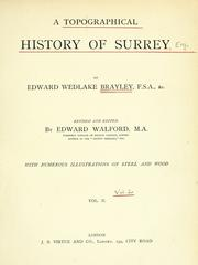 Cover of: A topographical history of Surrey