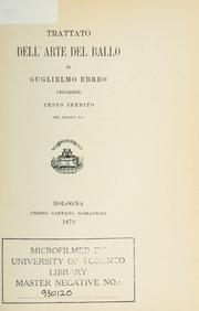 Cover of: Trattato dell'arte del ballo