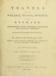 Cover of: Travels into Poland, Russia, Sweden, and Denmark by Coxe, William