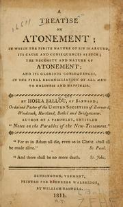 Cover of: A treatise on atonement