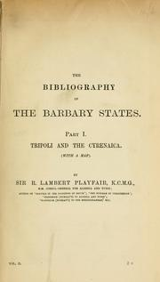Cover of: Tripoli and the Cyrenaica. by Playfair, R. Lambert Sir