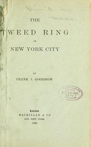 Cover of: The Tweed ring in New York city
