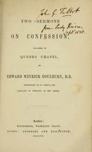 Cover of: Two sermons on confession