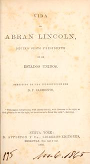 Cover of: Vida de Abran Lincoln