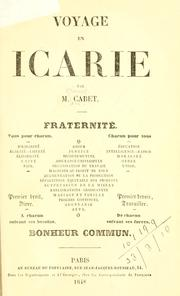 Cover of: Voyage en Icarie