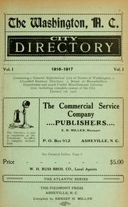 Cover of: The Washington, N.C. city directory |