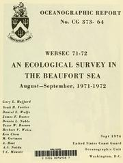 Cover of: WEBSEC 71-72; an ecological survey in the Beaufort Sea, August-September 1971-1972 | Gary L. Hufford