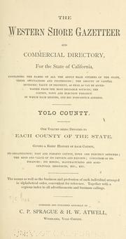 The Western shore gazetteer and commercial directory for the state of California ... Yolo County