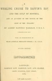 Cover of: A whaling cruise to Baffin's bay and the gulf of Boothia