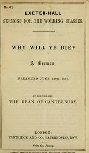 Cover of: Why will ye die?