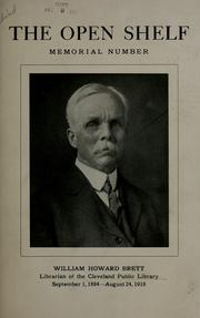 Cover of: William Howard Brett, librarian of the Cleveland Public Library |