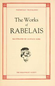 Cover of: The works of Rabelais