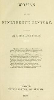 Cover of: Woman in the nineteenth century