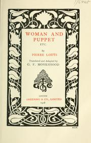 Cover of: Woman and puppet, etc