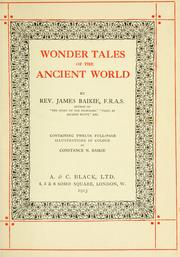 Cover of: Wonder tales of the ancient world