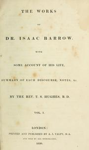 Cover of: The works of Dr. Isaac Barrow