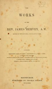Cover of: The works of the Rev. James Hervey, A.M