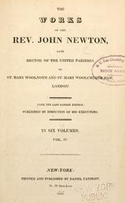 Cover of: The works of the Rev. John Newton ..