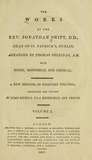 Cover of: The works of the Rev. Jonathan Swift ..