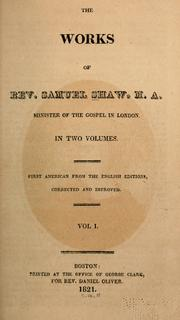Cover of: works | Shaw, Samuel